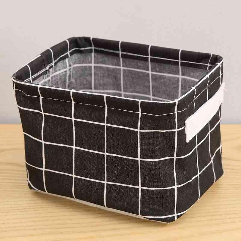 Small Fresh Pastoral Fabric Storage Basket - Nordic Style Box