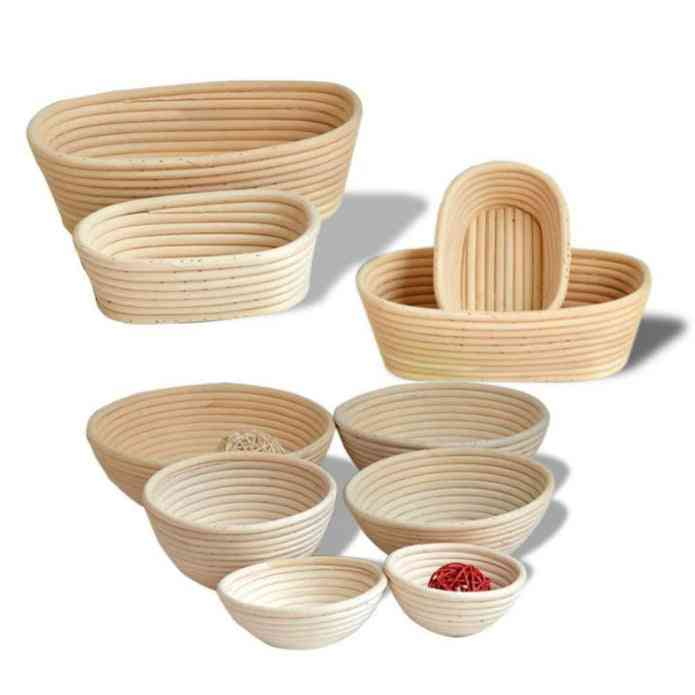 Storage Basket - Bread Banneton Liner And Brotform Rising Rattan Fruit Tray