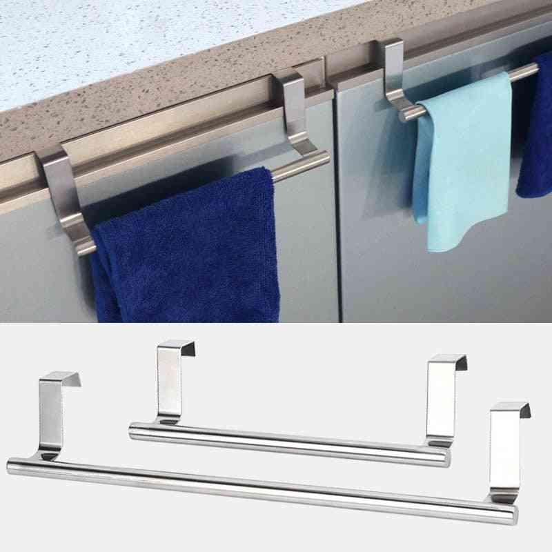 Long Wall Hook, Cabinet Door Towel Rack And Bar Hanging Holder Organizer For Bathroom