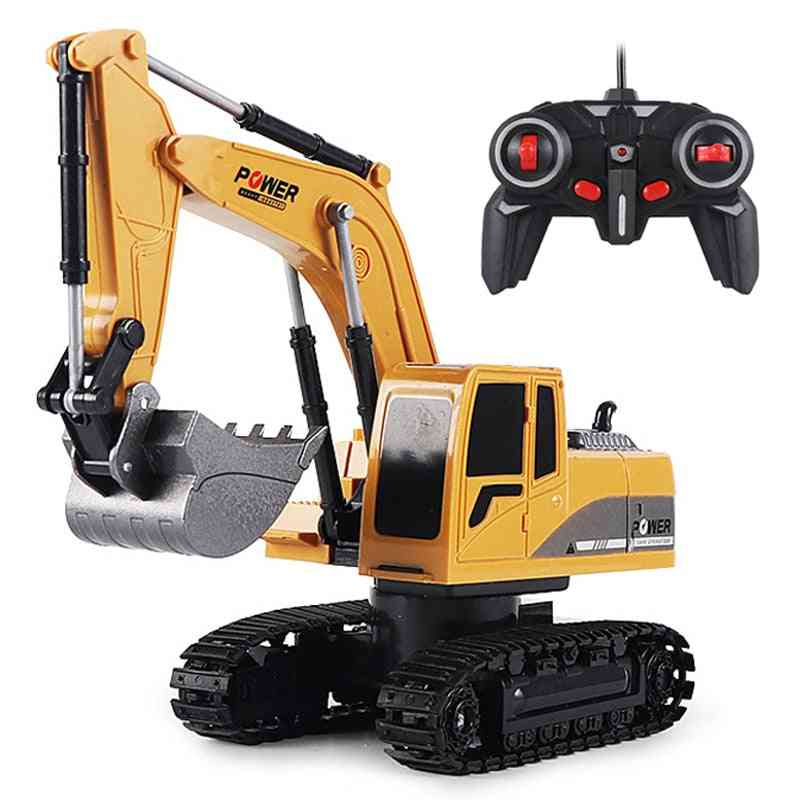 2.4ghz 6 Channel 1:24 Rc Engineering - Alloy And Plastic Rc Excavator Toy