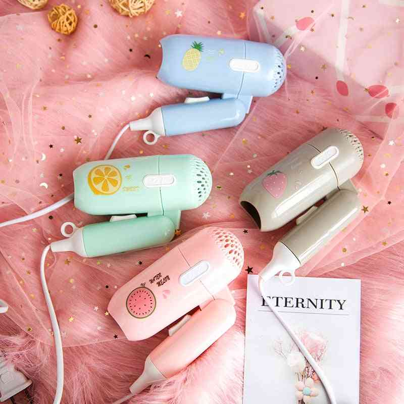 Mini Hair Dryer Foldable - Portable Thermostatic Air Collecting, Electric Hair Dryer