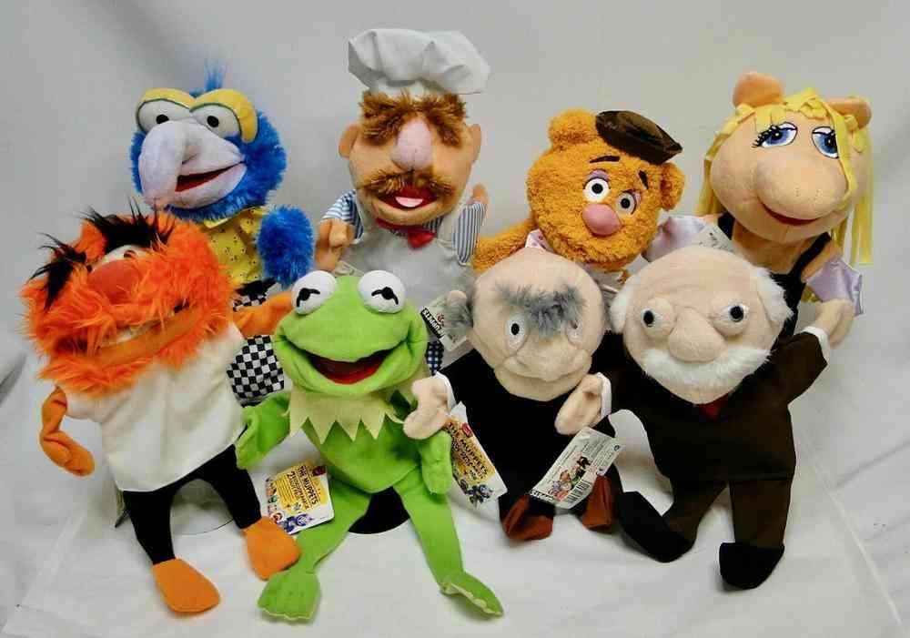 Kermit, Fozzie Bear, Swedish Chef Hand Puppets For Kids