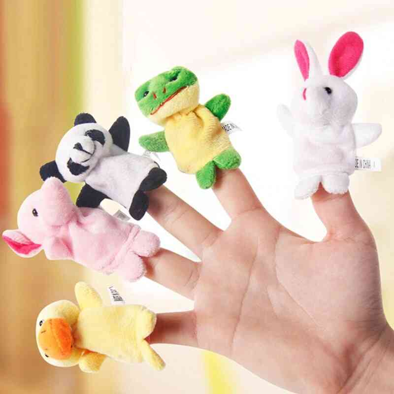 10pcs Double Layer Baby Cute Finger Puppets / Plush