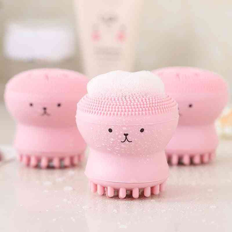 Cute Silicone, Octopus Shape Massager - Deep Pore Exfoliator Face Cleaner