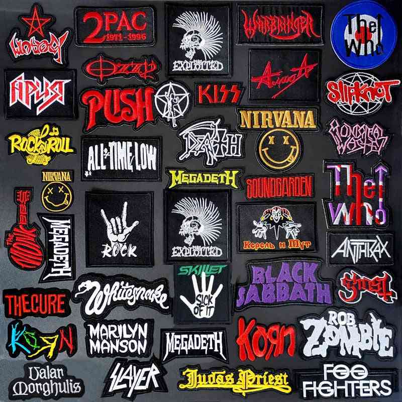 Band Diy Clothe Embroidery Punk Music Patch