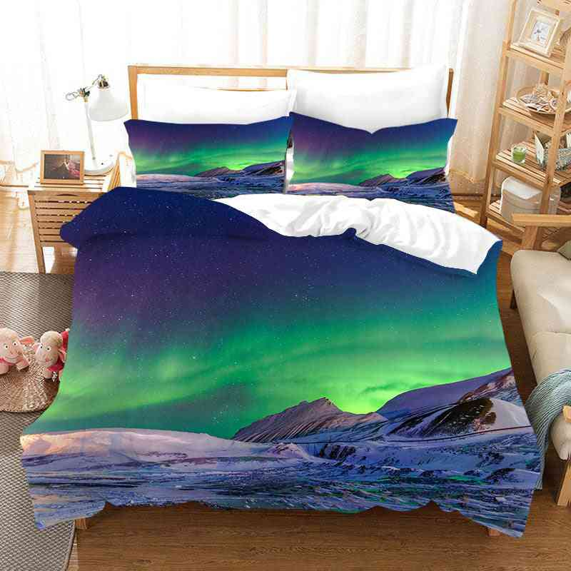 Marvellous Aurora Polaris 3d Printed Bedding Sets