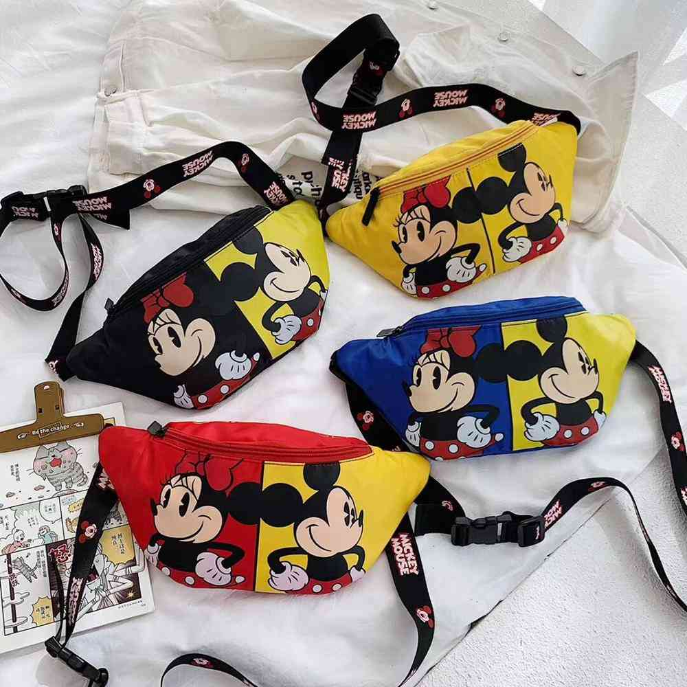 Disney Mickey Minnie Mouse Bag Doll - Belt Bag Shoulder Bag , Small Waist Bag