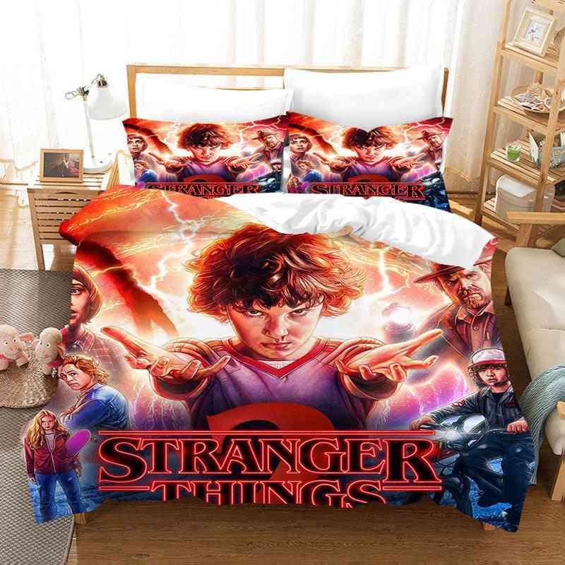3d Printing Stranger Things Quilt Cover And Pillowcase No Sheets Bedding Set