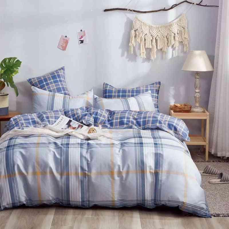 Homestay Style Cotton Yarn Dyed Bedding Set