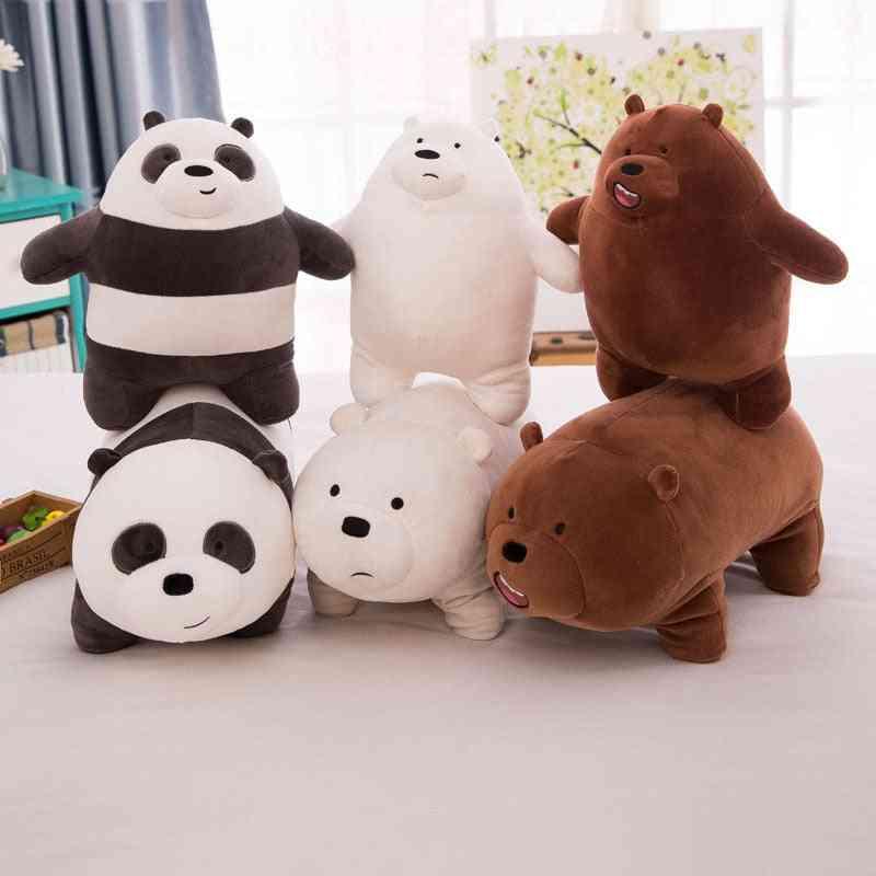 Three Naked Bears Plush Stuffed Cushion Pillow