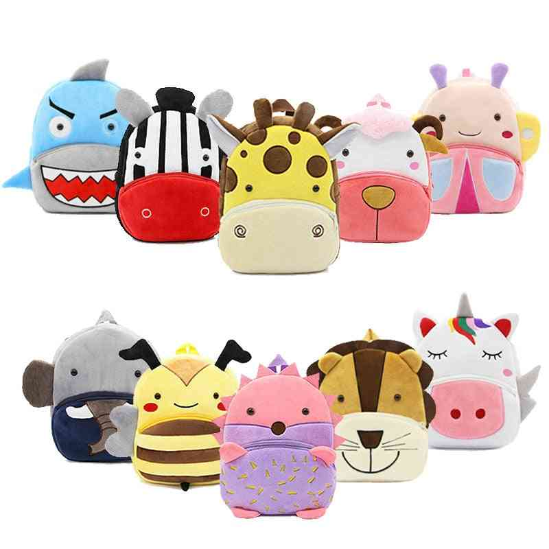 Animal Cartoon School Bags - Plush Backpack For Baby