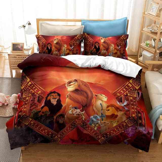 Disney The Lion King Simba Cartoon Duvet Cover Set Bedroom