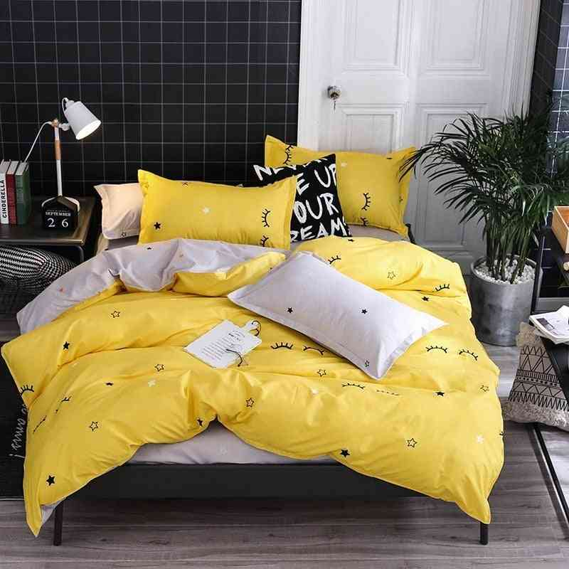 Home Decor Simple Printed Bedding Sets