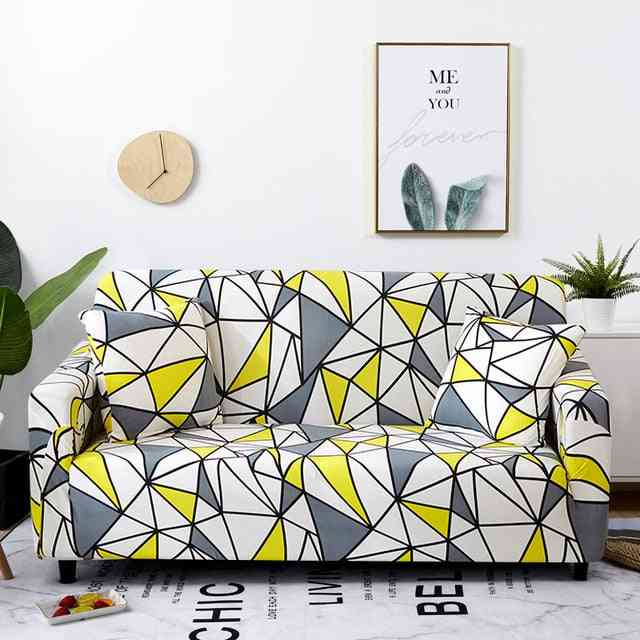 Sectional Elastic Stretch Sofa Slipcovers For Living Room Couch