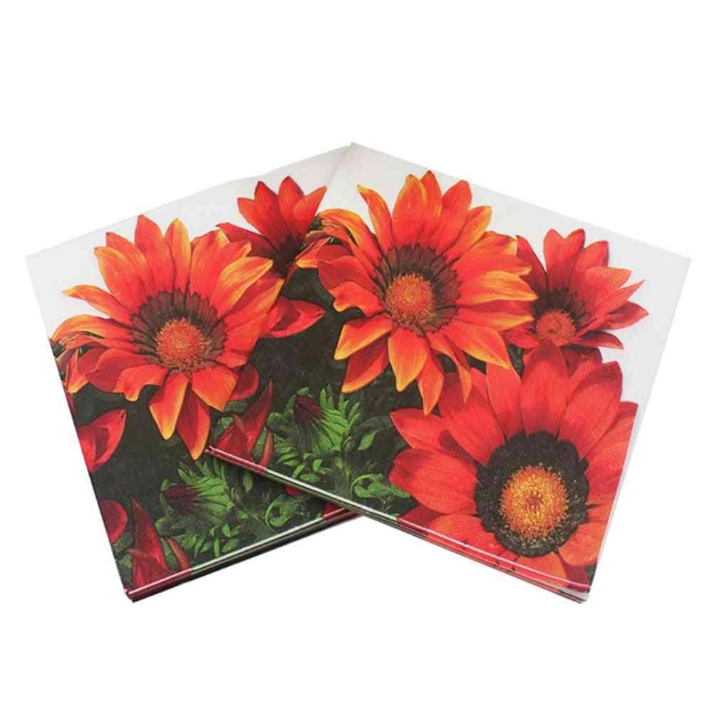 20pcs Sunflower Paper Napkin - Festas & Party Supply Tissue