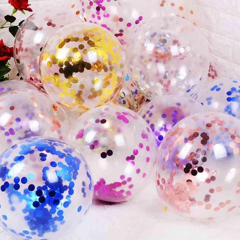 Glitter Confetti Latex Balloons - Baby Shower Decoration