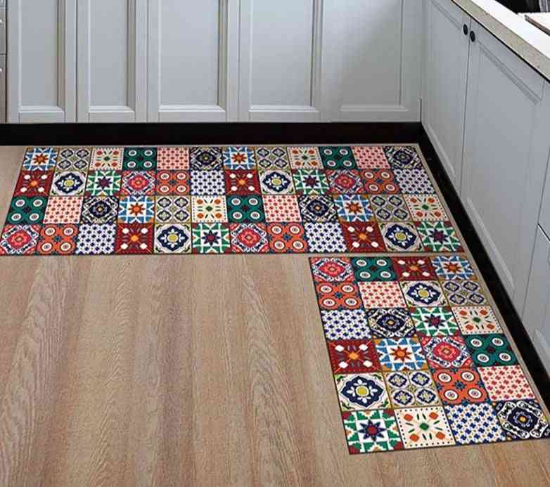 Printed Anti Slip Modern Area Rugs Mats For Living Room / Balcony