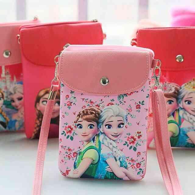 Disney Cartoon Princess - Pu Leather Cute Girl ,convenient Snack Bag For Ladies