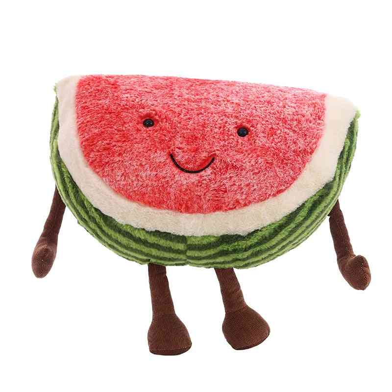 Cute Watermelon Plush - Doll Stuffed Plant , Fruits Pillow Soft Toy For