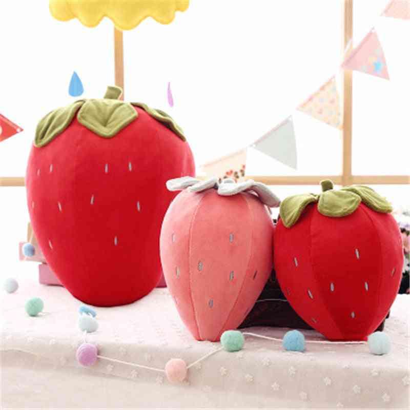 Creative Simulation Strawberry, Fruit Plush Pillow - Stuffed Plush For Kids