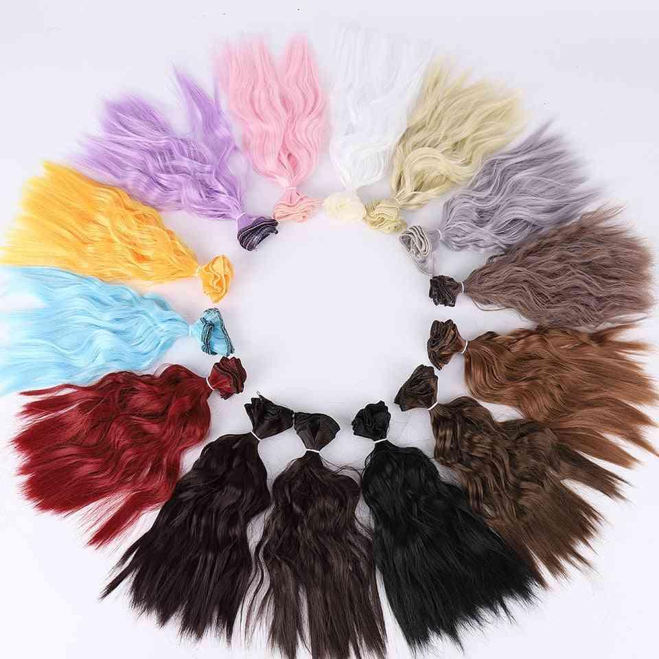 Bybrana 25cm*100cm Long Curly Hair - High Temperature Fiber , Bjd Sd Wigs Diy Wig For Dolls