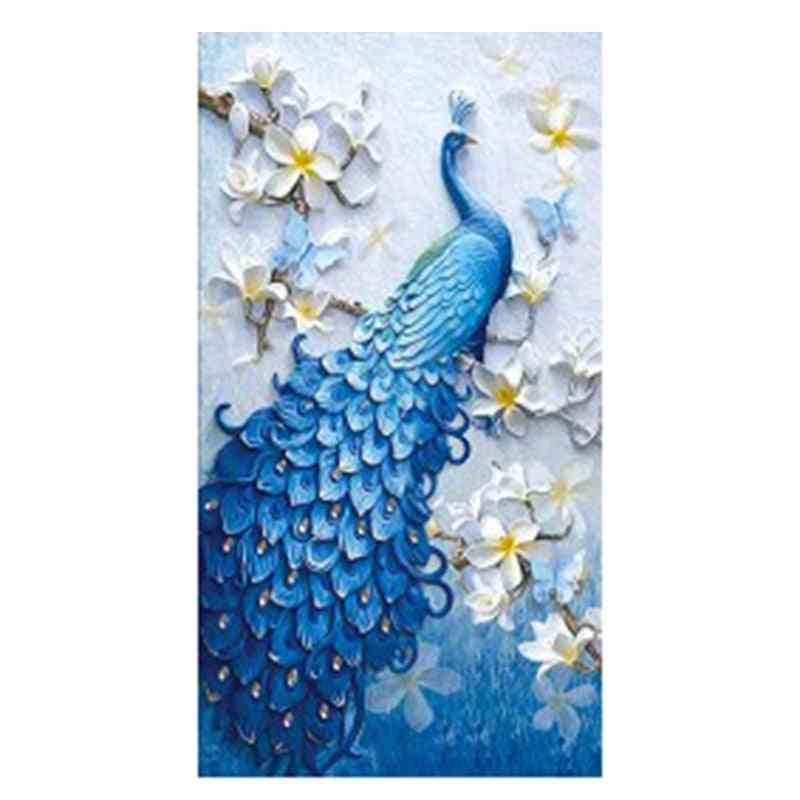 Diamond Embroidery Peacock Full Rhinestone 5d Diy Diamond Painting Mosaic Decoration