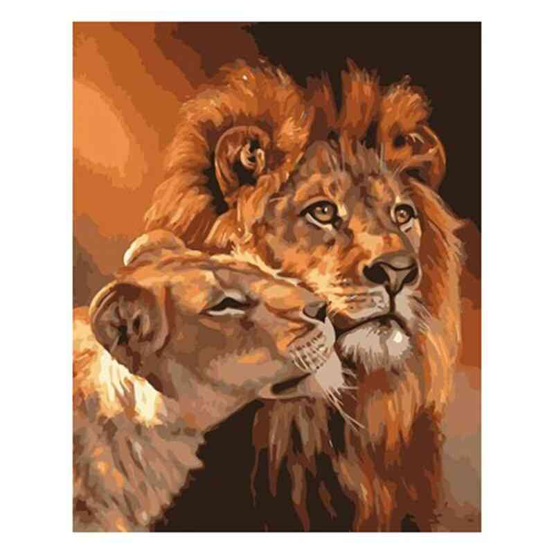 Full Drill Square Diamond 5d Diy Lions Diamond Embroidery Cross Stitch Rhinestone Mosaic Painting