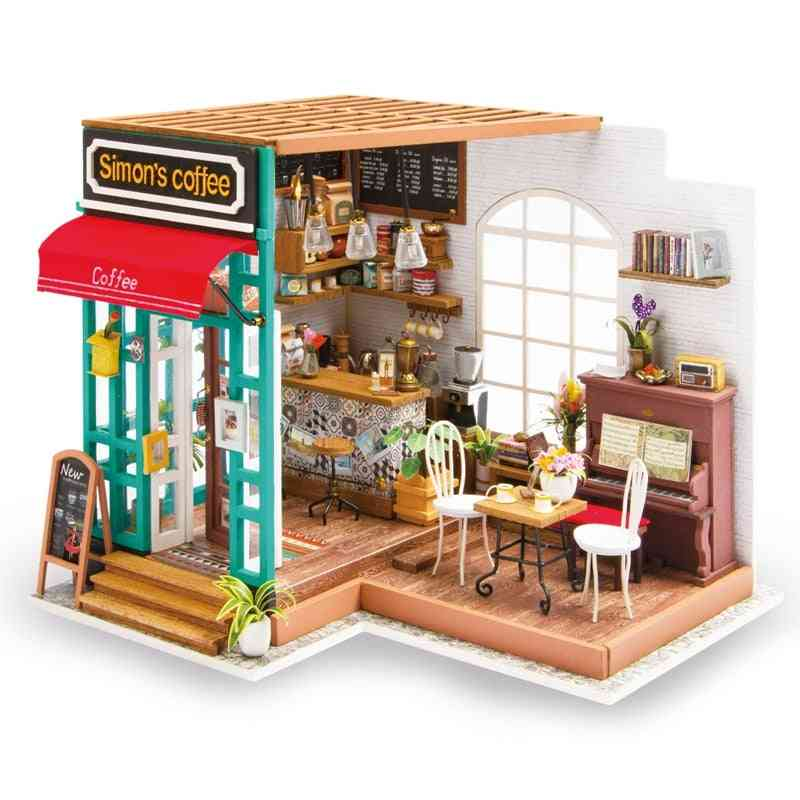 Art Dollhouse Diy Miniature House Kits - Mini Dollhouse With Furniture , For Girl's