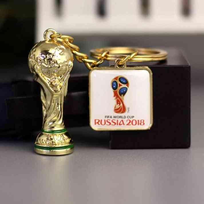 Soccer World Cup National Team Logo Keychains - Creative Car Silicone Pendant Keyring