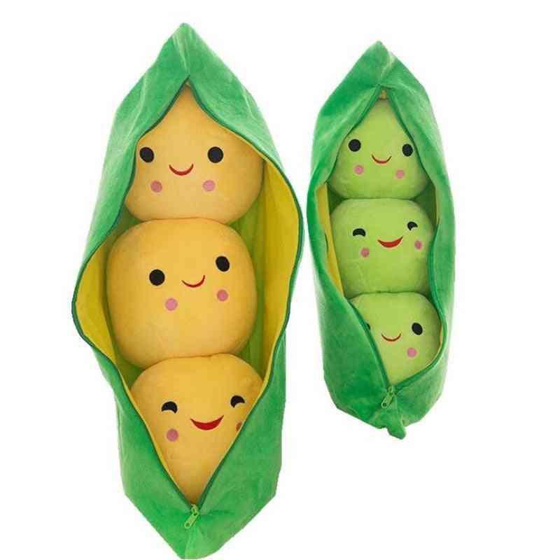 25cm Cute Kids Baby Plush Toy ,pea Stuffed Plant Doll - Kawaii For / Gift