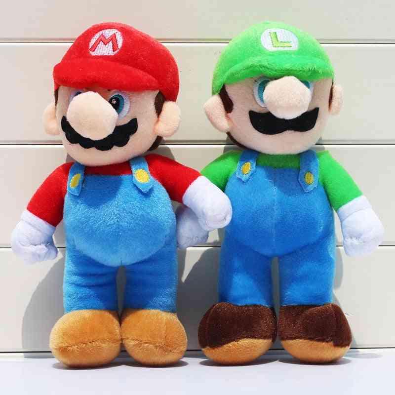 2pcs/lot 25cm Super Mario Bros Plush - Mario Luigi Stuffed Dolls For
