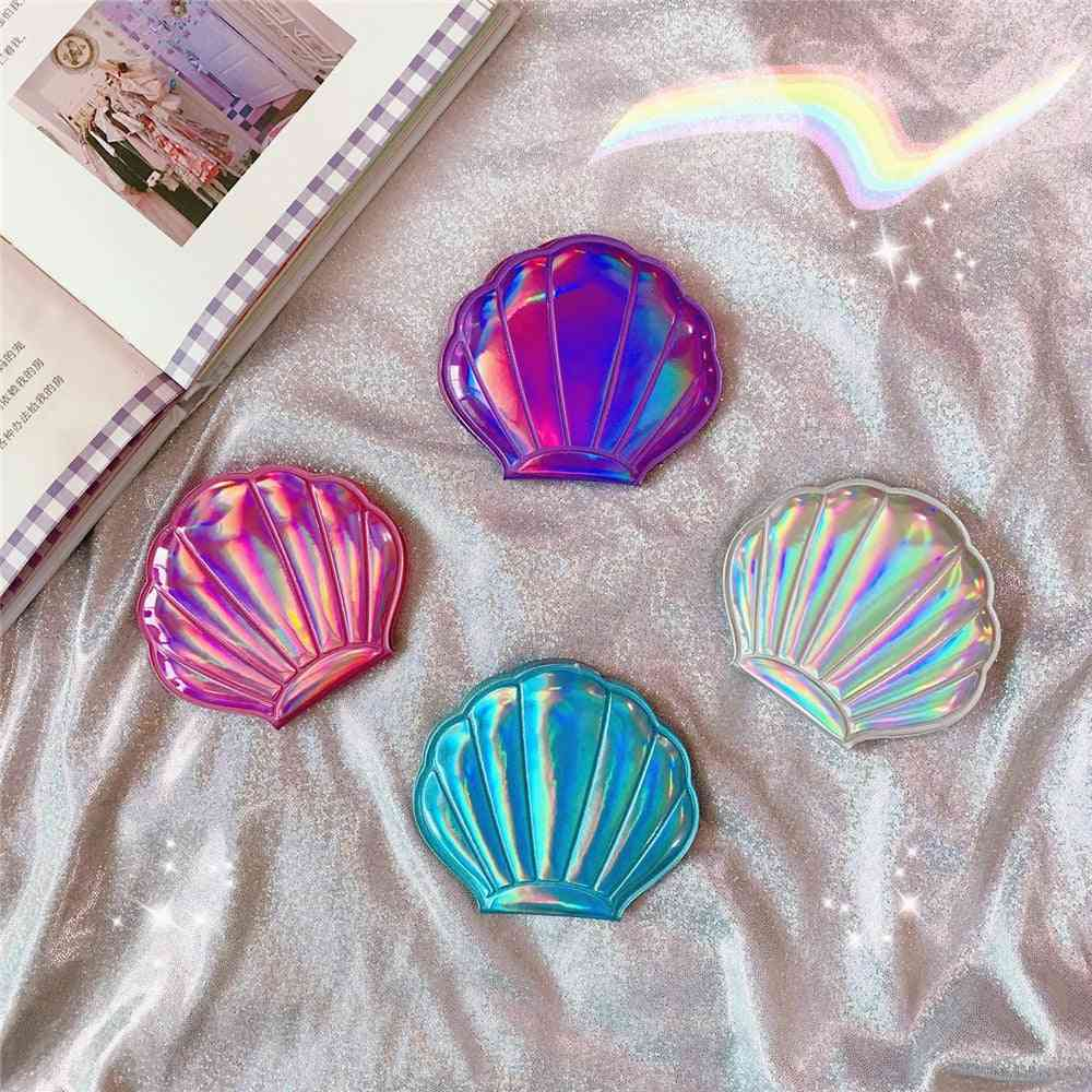Magnifying Laser Color, Double Sides, Shell Shape Makeup Mirror