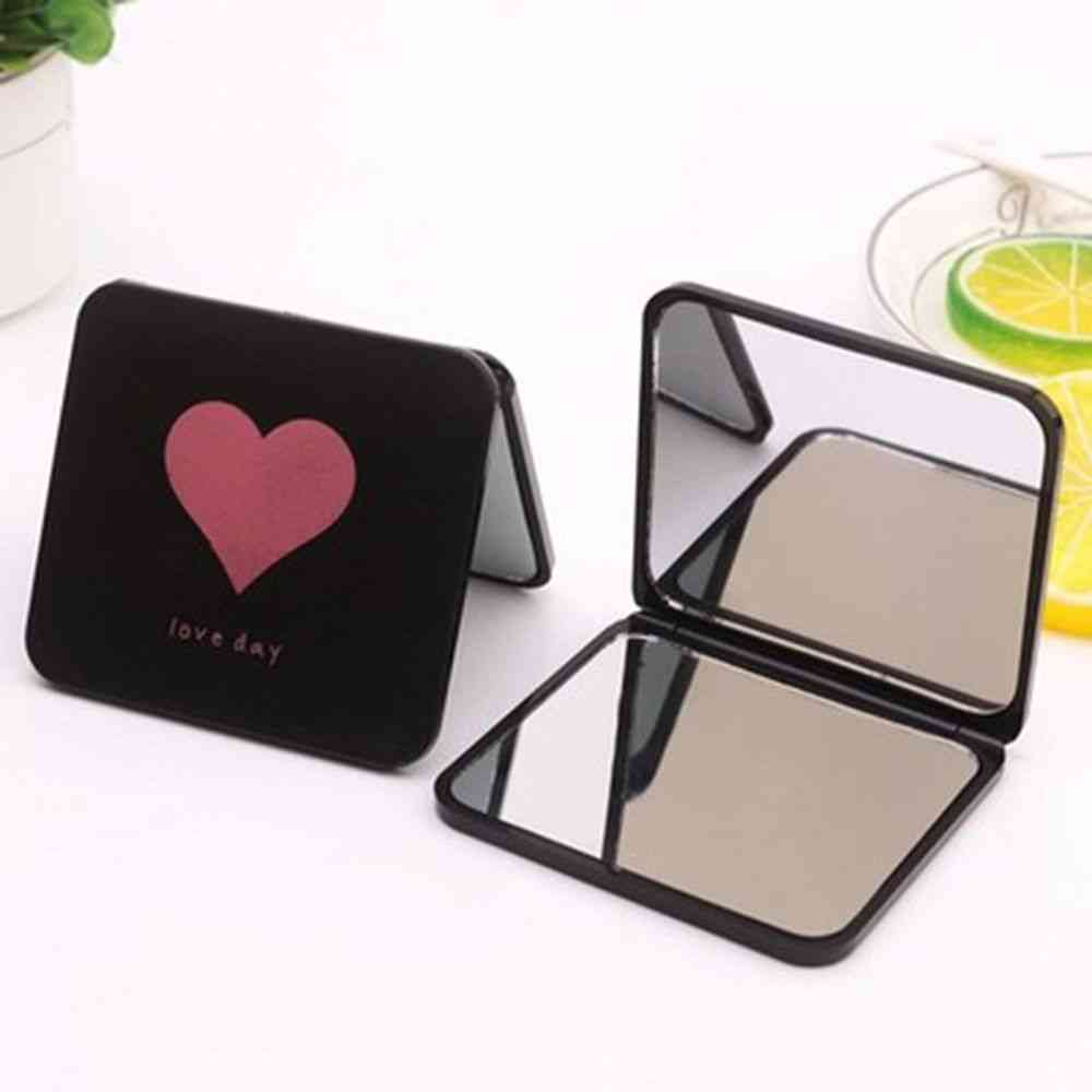 1pc Mini Square Makeup Mirror- Portable Double Sided Vanity ,foldable Pocket Mirror