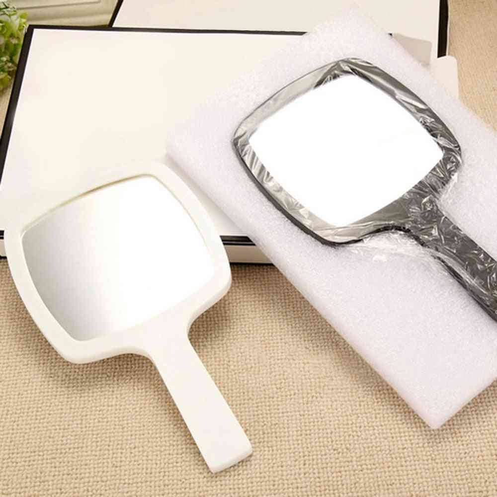 Acrylic Handheld Mirror - All Round Makeup Mirror, Cosmetic Hand Held, Magnifier Mirror For Ladies Beauty Dresser
