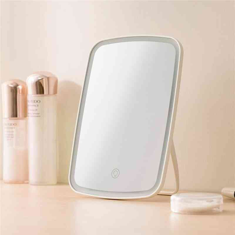 Portable Makeup Mirror,with  Led Natural Light- Usb Refill Angle