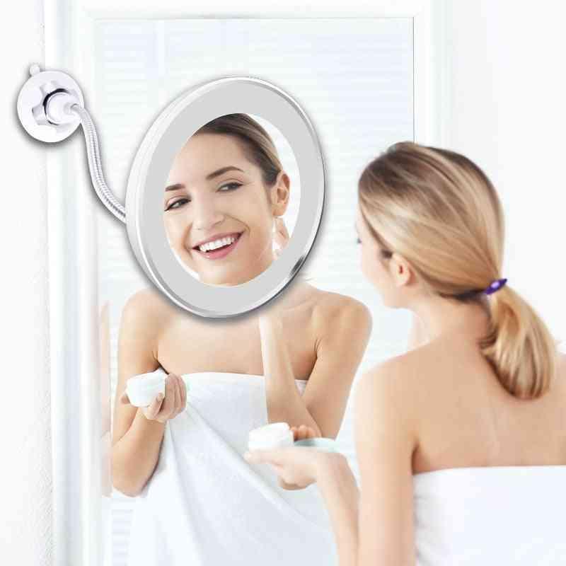 360 Degree Rotating, Led Magnifying-vanity Mirrors