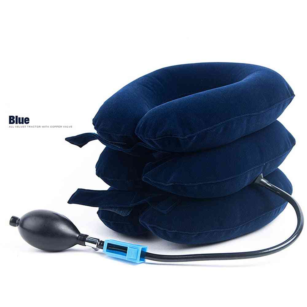 Soft, Inflatable, Neck Pain Relief - Traction Cervical Collar For Support