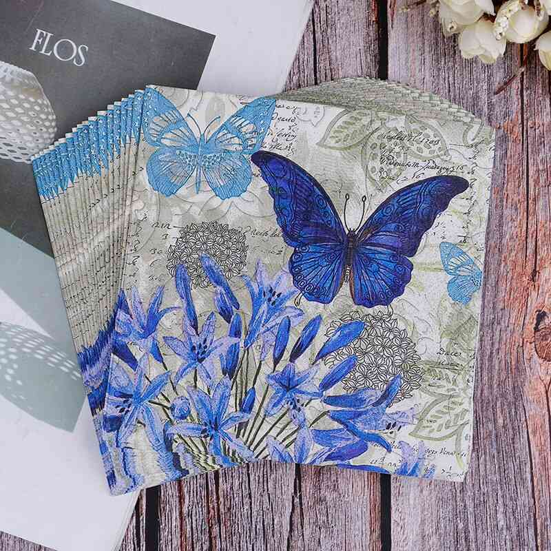 Butterfly Printed Tissue Paper For Wedding, Birthday Parties