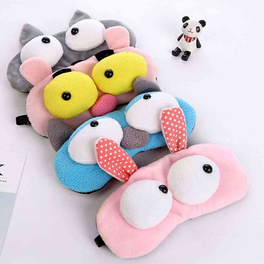 Cute Animals Design Eye Mask - Padded Shade Cover For Travel Relax