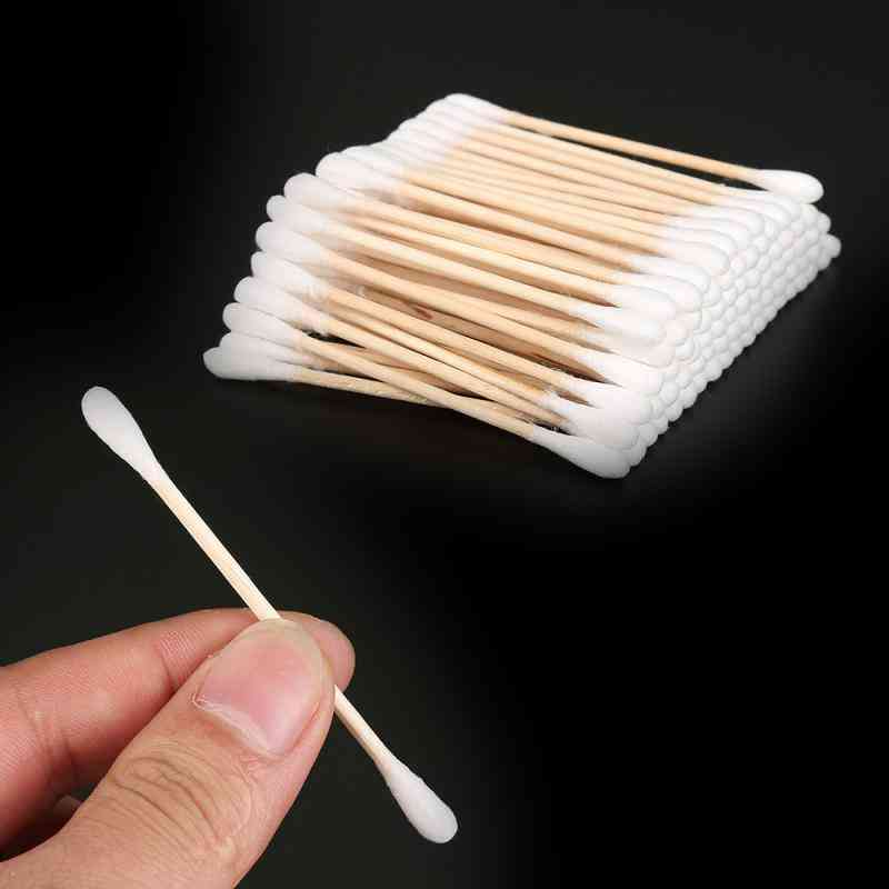 Double Head Disposable Makeup Cotton Swab - Soft Buds For Nose, Ears Cleaning Tools