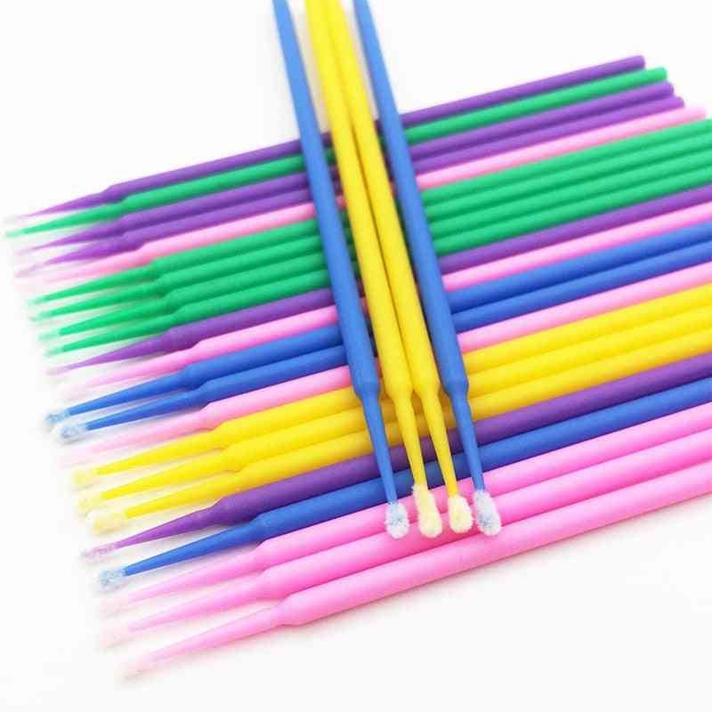 Disposable Make Up Cotton Swab Tool - Mini Individual Lashes Applicators