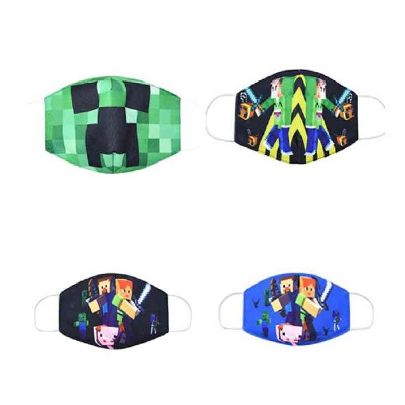 Minecrafted Printed Face Mask-washable And Reusable