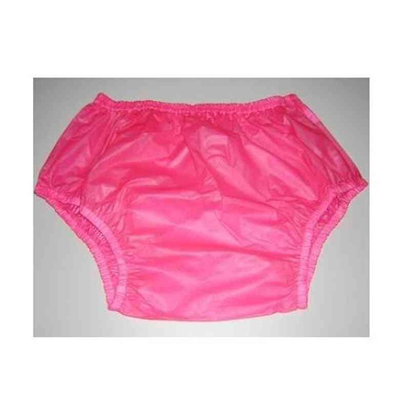 Pink, Large Size-2pcs Pull On Plastic Pants