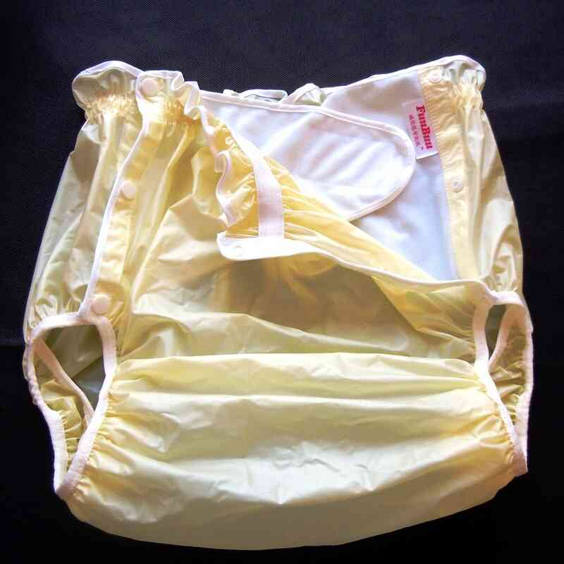 Yellow M 1pcs Adult Diapers - Non Disposable , Adult Pvc Shorts Diapers For Adult
