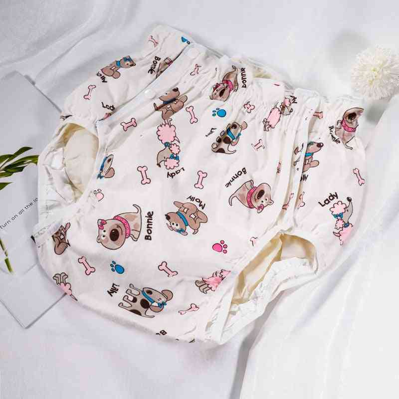S Size Adult Diaper - Cute Dog Design, Incontinence Pants For Adults