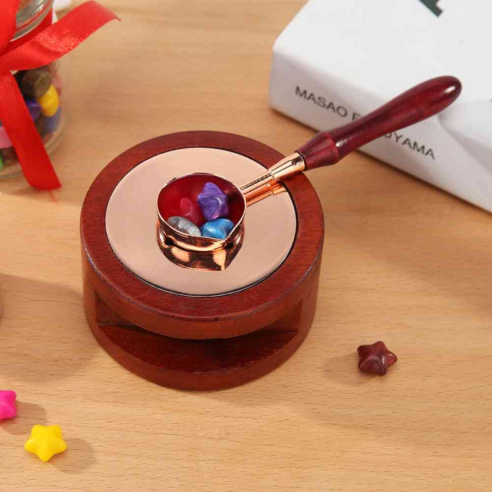 Retro Wood Handle Sealing Wax Spoon
