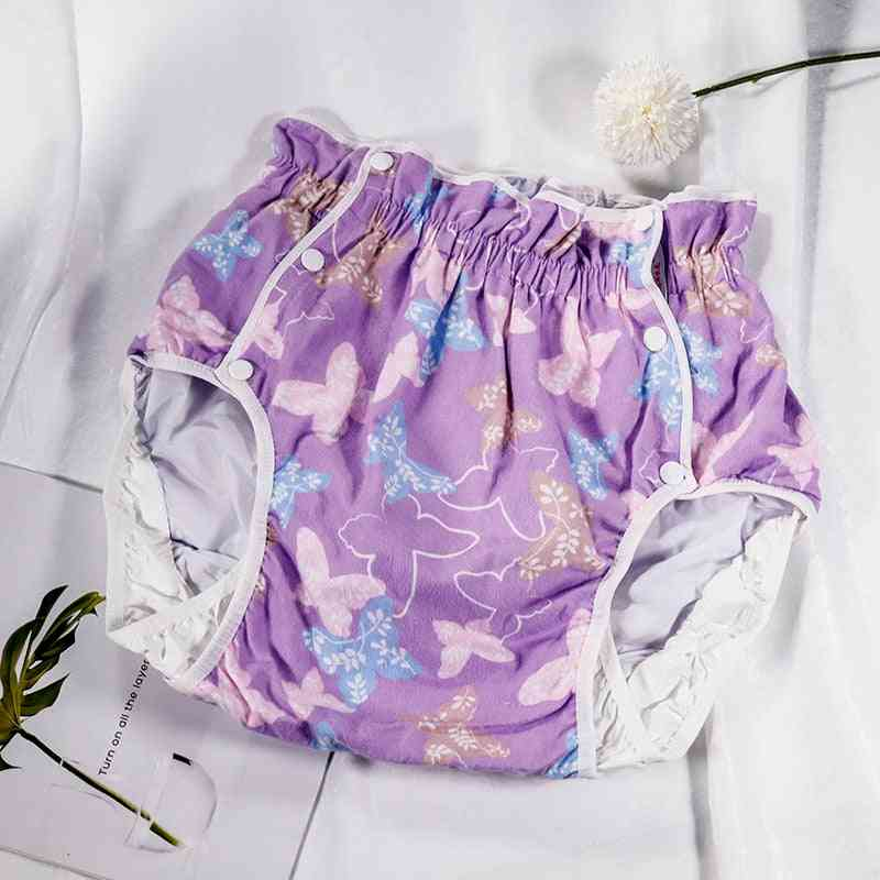 Purple Butterfly Xxl - Snow White Adult Diaper/ Incontinence Pants