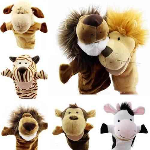 Baby - Cartoon Animals , Wildlife Pattern , Hand Glove Puppet For Kids , Role Play