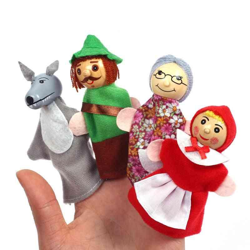 Baby Tell Story Finger Puppet - Three Pigs Mermaid Castle Princess Cartoon