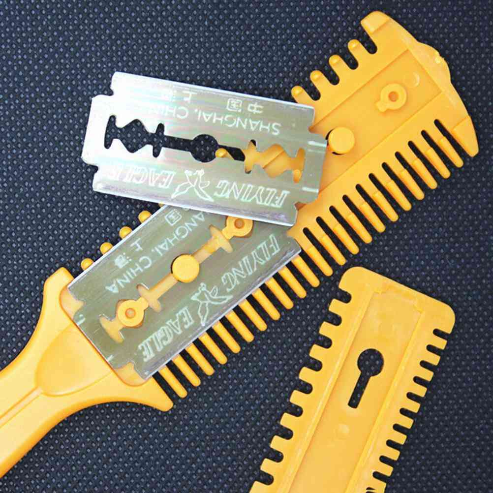 Hair Cut Styling Barber Scissor Razor, Magic Blade Comb Hairdressing Tool Kit